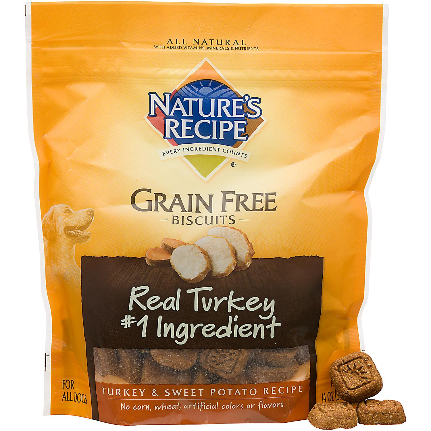 Nature's Recipe Grain Free Turkey & Sweet Potato Dog Biscuits