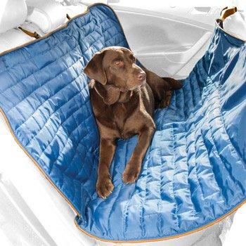 Kurgo Loft Blue & Charcoal Reversible Hammock Dog Car Seat Cover