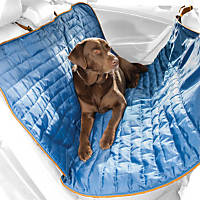 Kurgo Loft Blue & Charcoal Reversible Hammock Dog Car Seat Cover