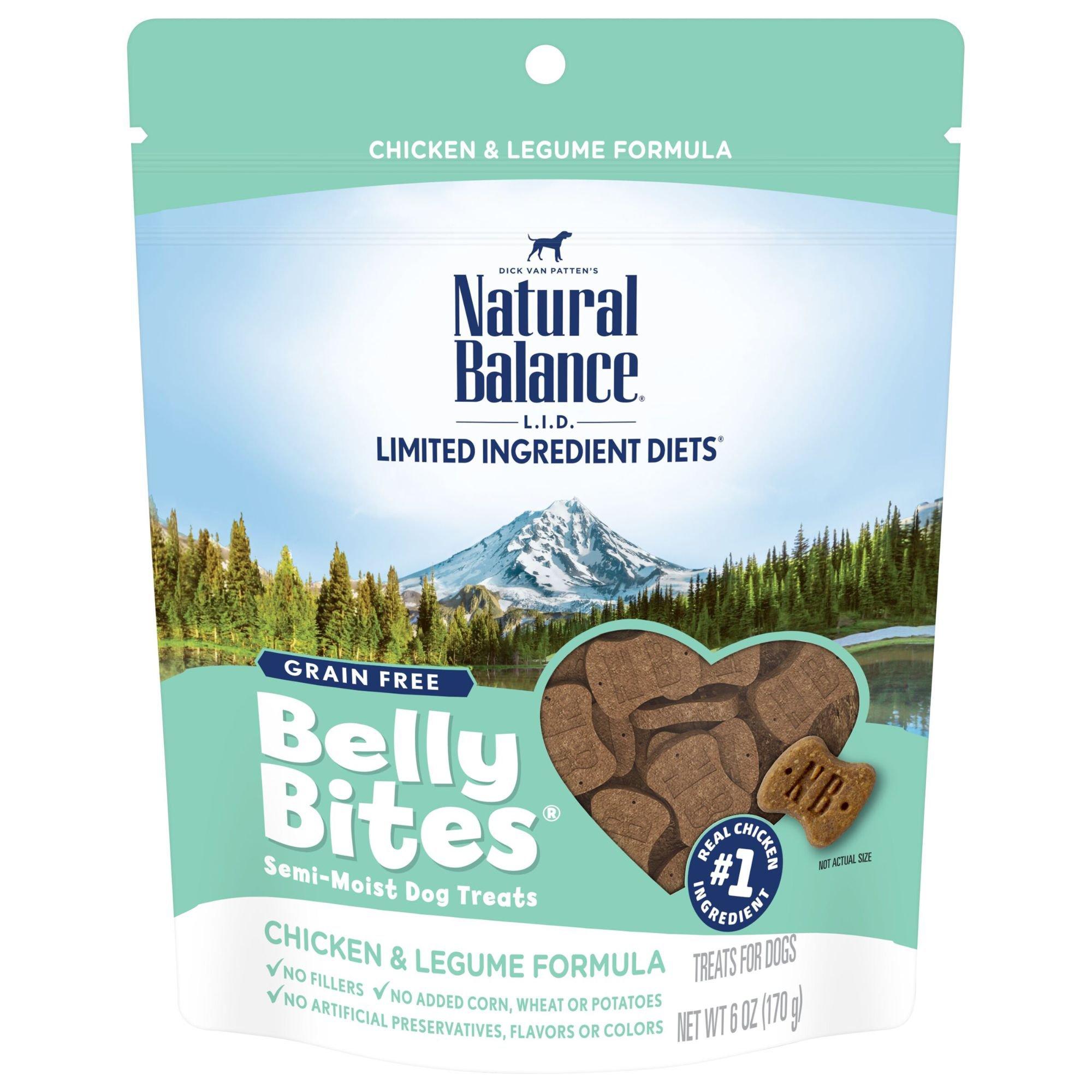 Natural Balance Belly Bites Grain Free Semi-Moist Chicken & Legume Dog Treats