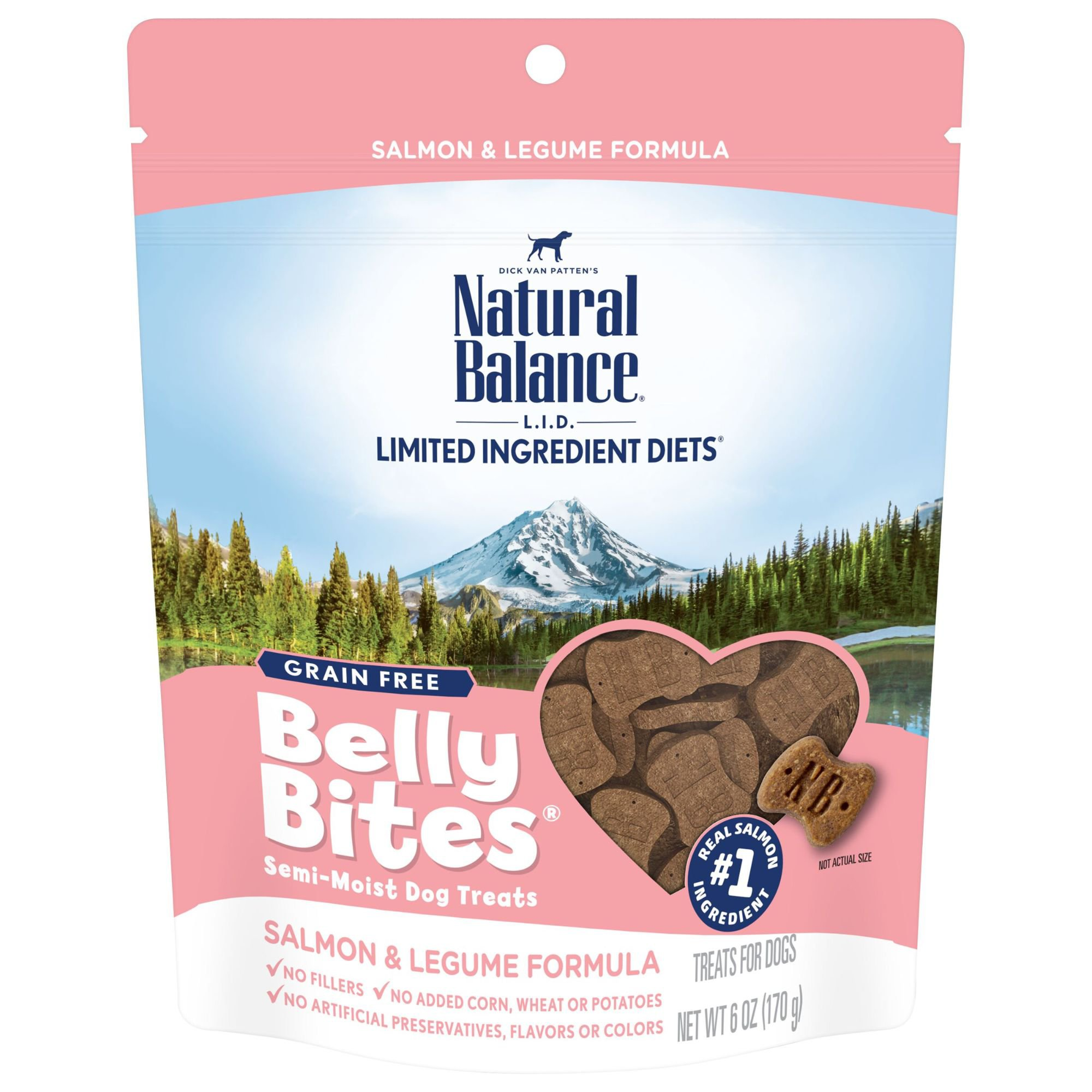 Natural Balance Belly Bites Grain Free Semi-Moist Salmon & Legume Dog Treats