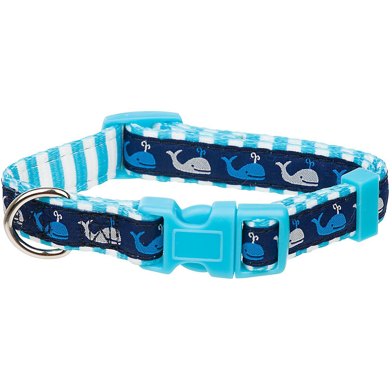 Petco Blue Whale Nylon Adjustable Dog Collar