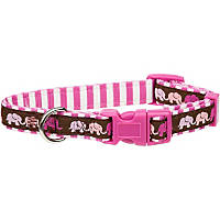 Petco Pink Elephants Nylon Adjustable Dog Collar