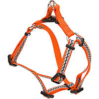 Coastal Pet Lazer Brite Reflective Nylon Orange Chevron Print Dog Harness