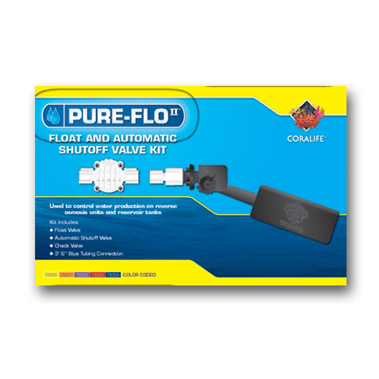 Coralife Pure Flo Ii Reverse Osmosis Float Valve With Auto Shut Off Valve 9.6 L X 3.8 W X 2.8 H