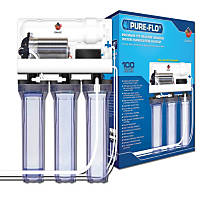 Coralife Pure Flo II 100 Gallon Reverse Osmosis 3 Canister System with Pump