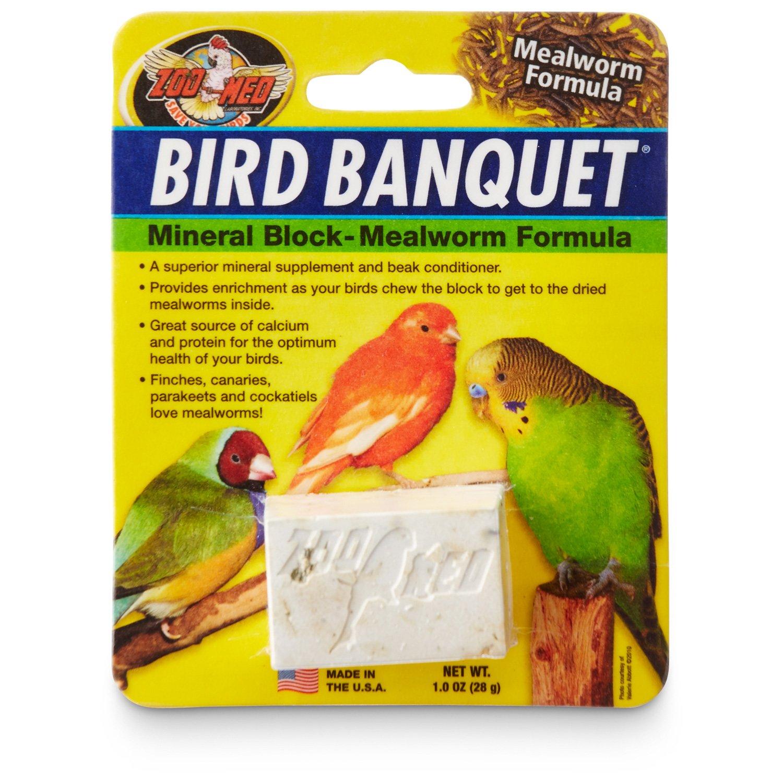 Zoo Med Mealworm Bird Banquet Block