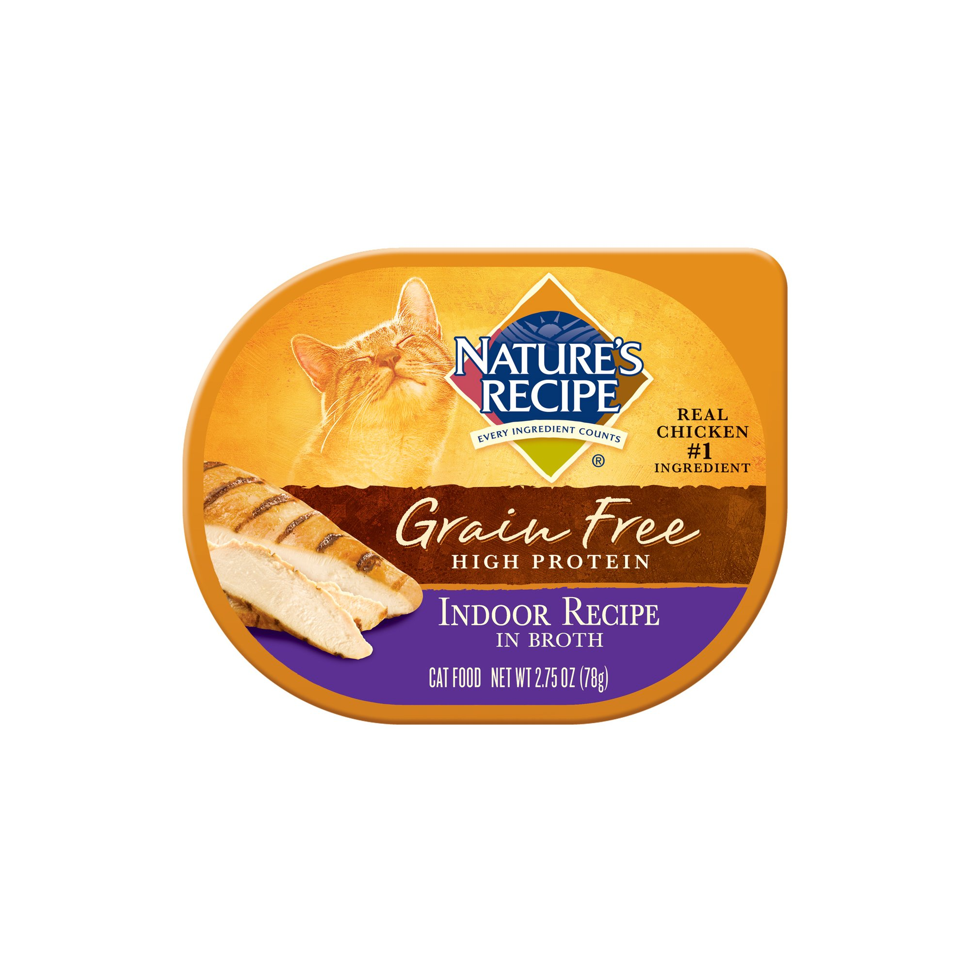 Nature's Recipe Grain Free Indoor Cat Food Trays