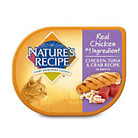 Nature's Recipe Chicken, Tuna & Crab Recipe in Broth Adult Canned Cat Food