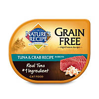 Nature's Recipe Grain Free Tuna & Crab Adult Cat Food Trays