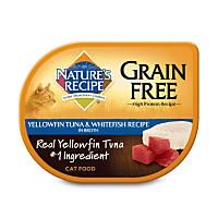 Nature's Recipe Grain Free Yellowfin Tuna & Whitefish Adult Cat Food Trays