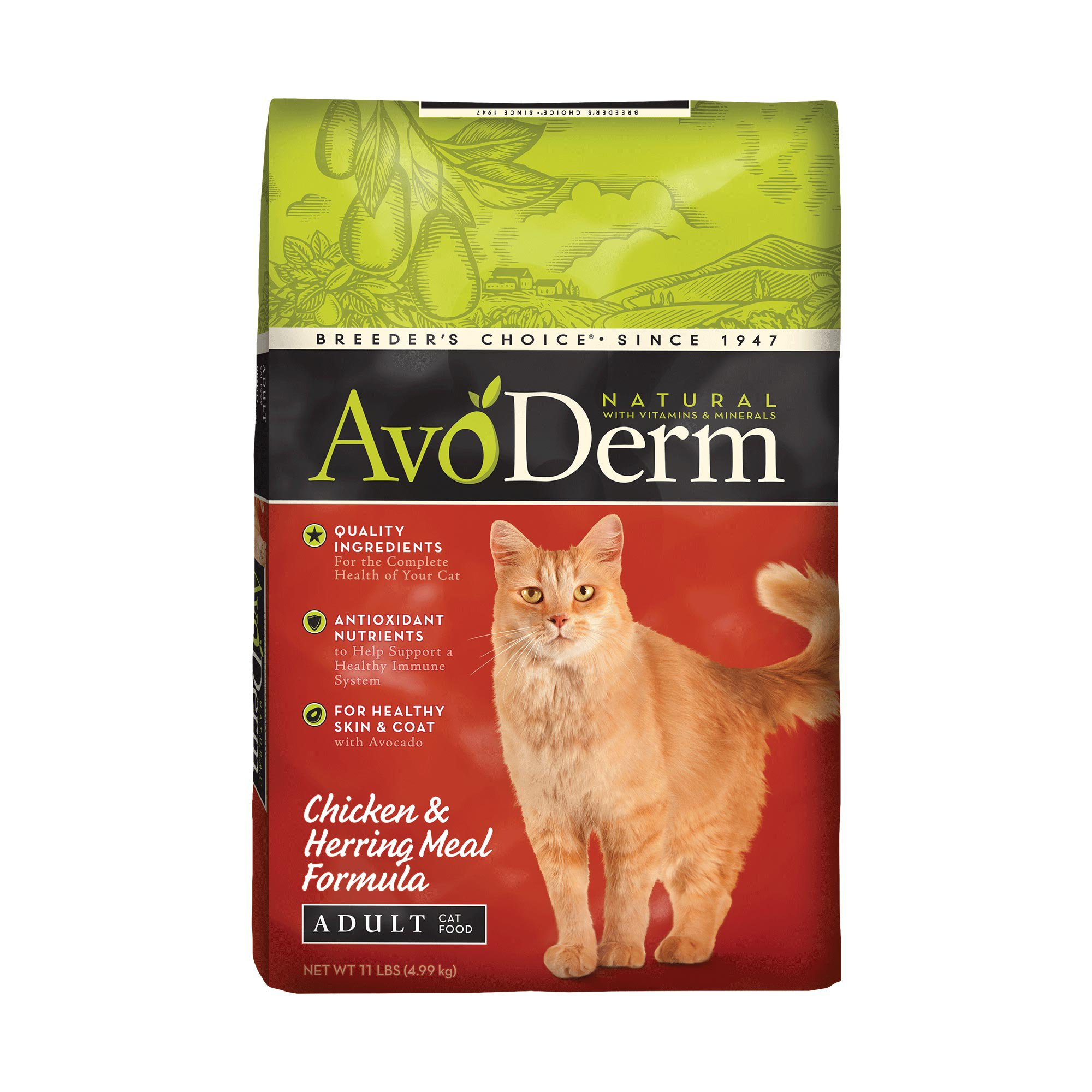 AvoDerm Natural Chicken & Herring Meal Adult Cat Food