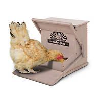 Precision Pet Wood Treadle Chicken Feeder