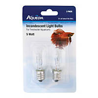 Aqueon Incandescent Bulbs, 5 Watts