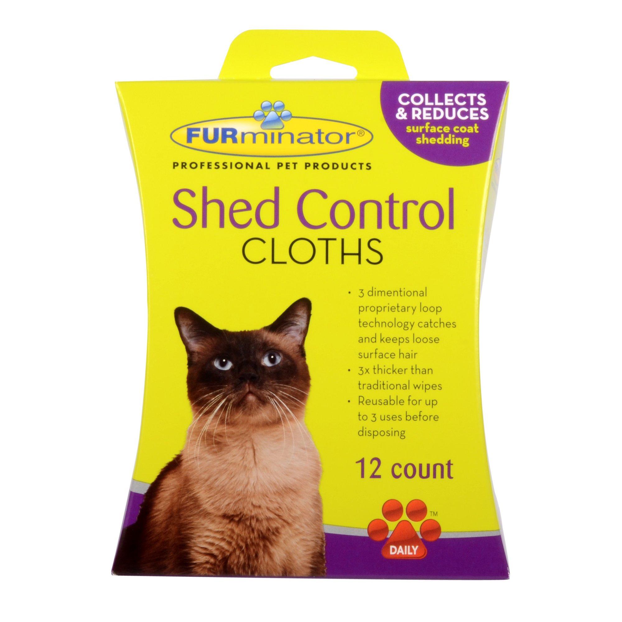 FURminator Cat Shed Control Cloths
