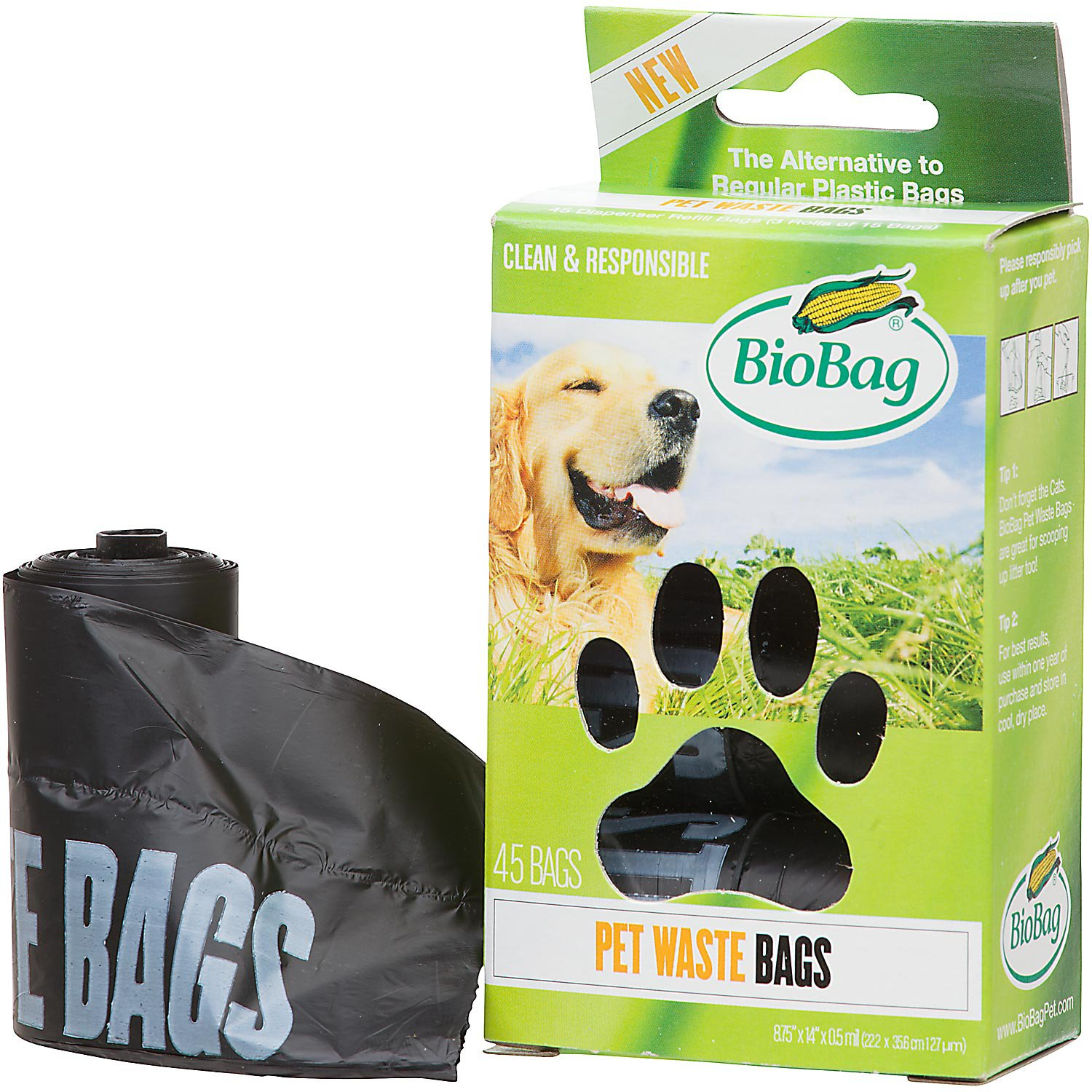 BioBag Pet Waste Bags on a Roll