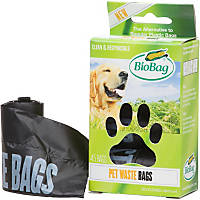 BioBag Pet Waste Bags on a Roll, Pack of 3 rolls - 15 bags per roll