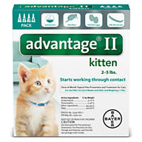 Advantage II Once-A-Month Cat & Kitten Topical Flea Treatment, 2 to 5 lbs.