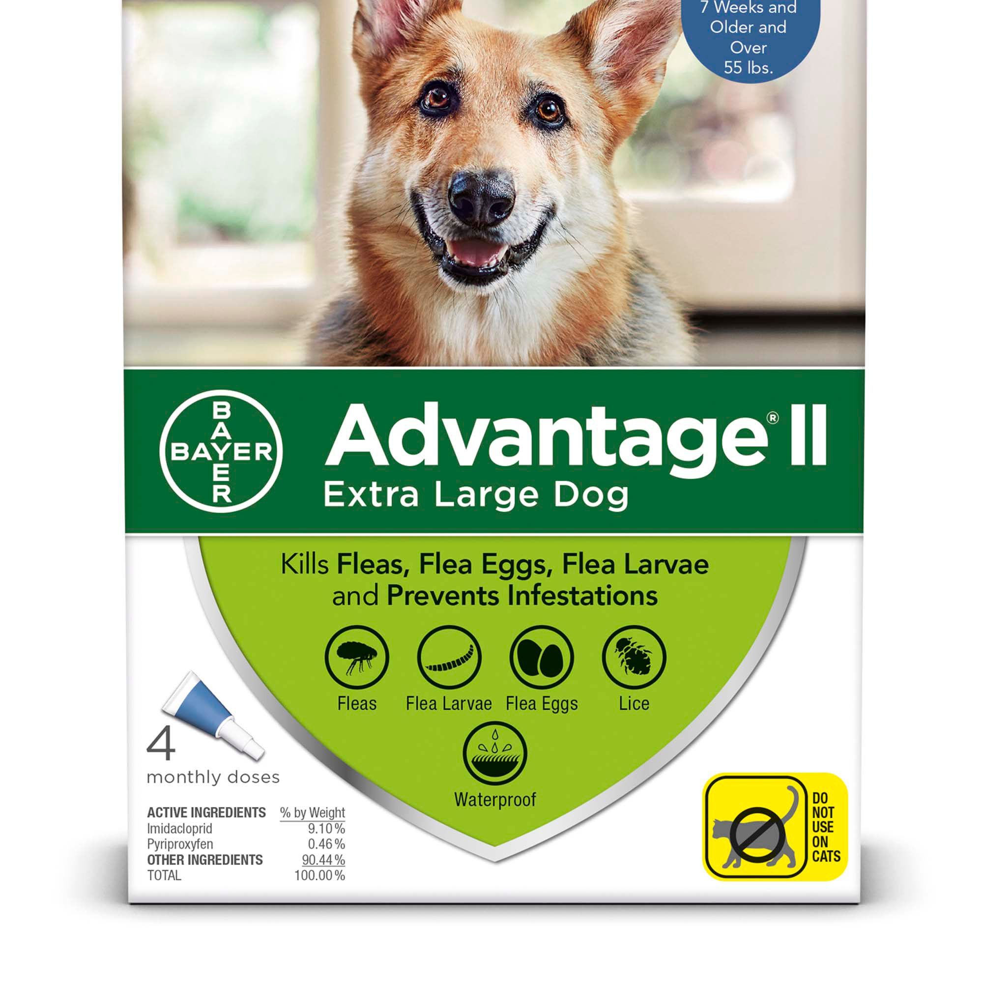 Advantage II Once-A-Month Topical Flea Treatment for Dogs & Puppies Over 55 lbs.