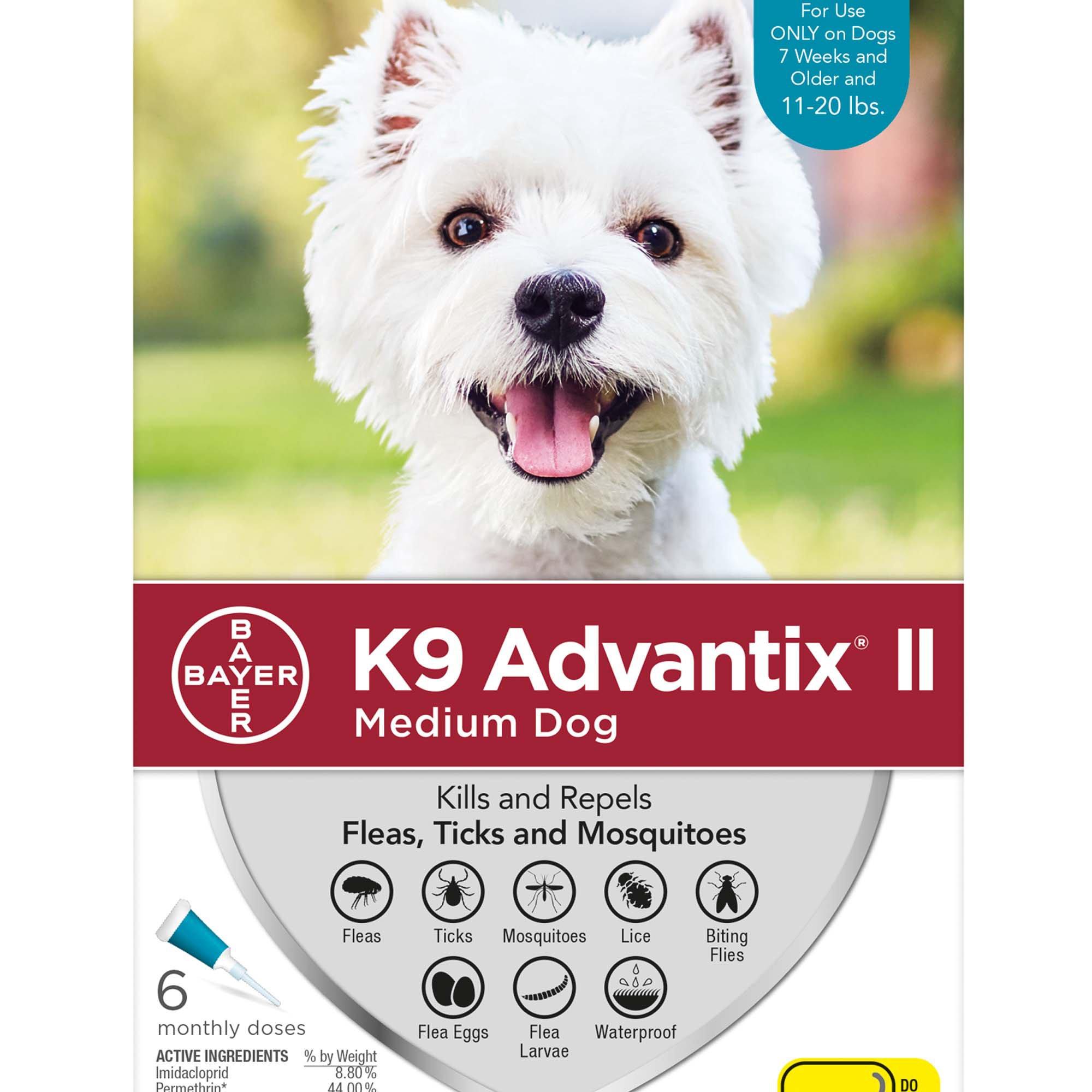 K9 Advantix II Topical Medium Dog Flea & Tick Treatment