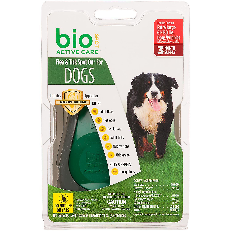 Bio Spot Active Care Flea & Tick Dog Spot On Applicator, X-Large