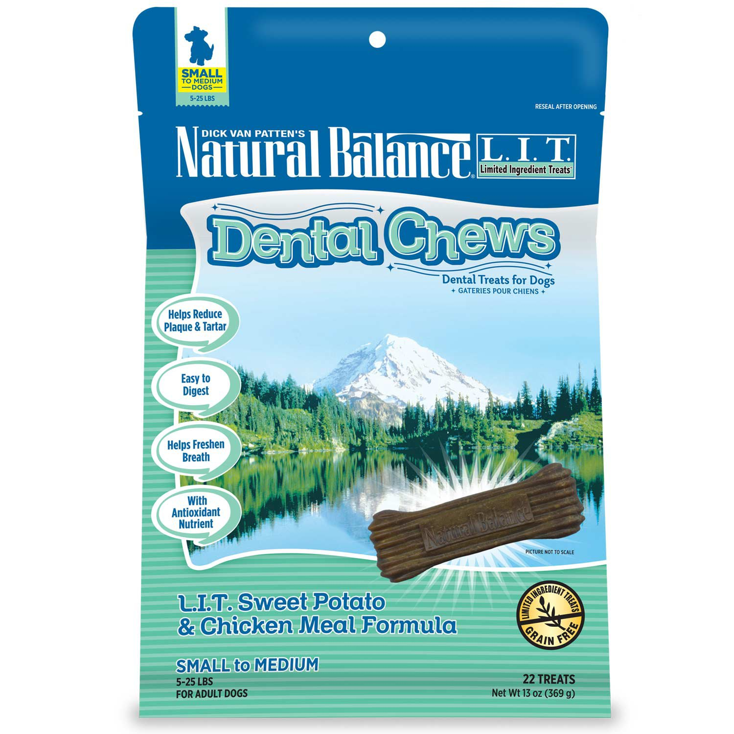 Natural Balance Limited Ingredient Treats Sweet Potato & Chicken Meal Small Dog Dental Chews