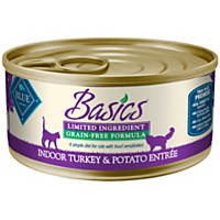 Blue Buffalo Basics Limited Ingredient Grain Free Turkey & Potato Canned Adult Cat Food