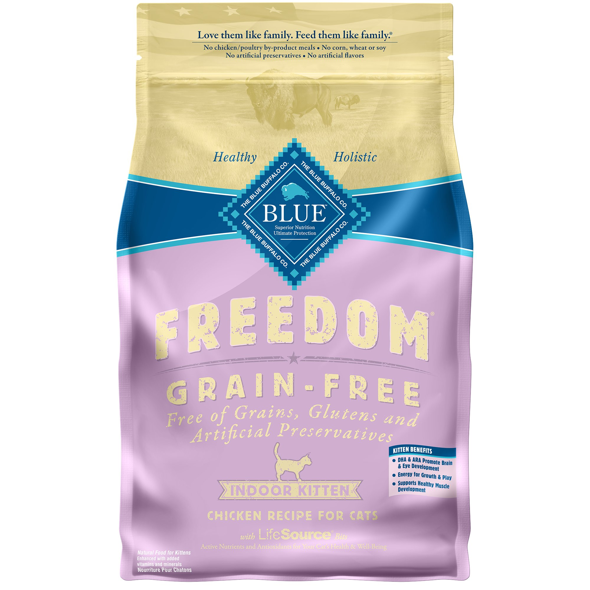 Blue Buffalo Freedom Grain Free Chicken Indoor Kitten Food