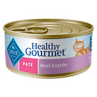 Blue Buffalo Healthy Gourmet Pate Beef Adult Canned Cat Food