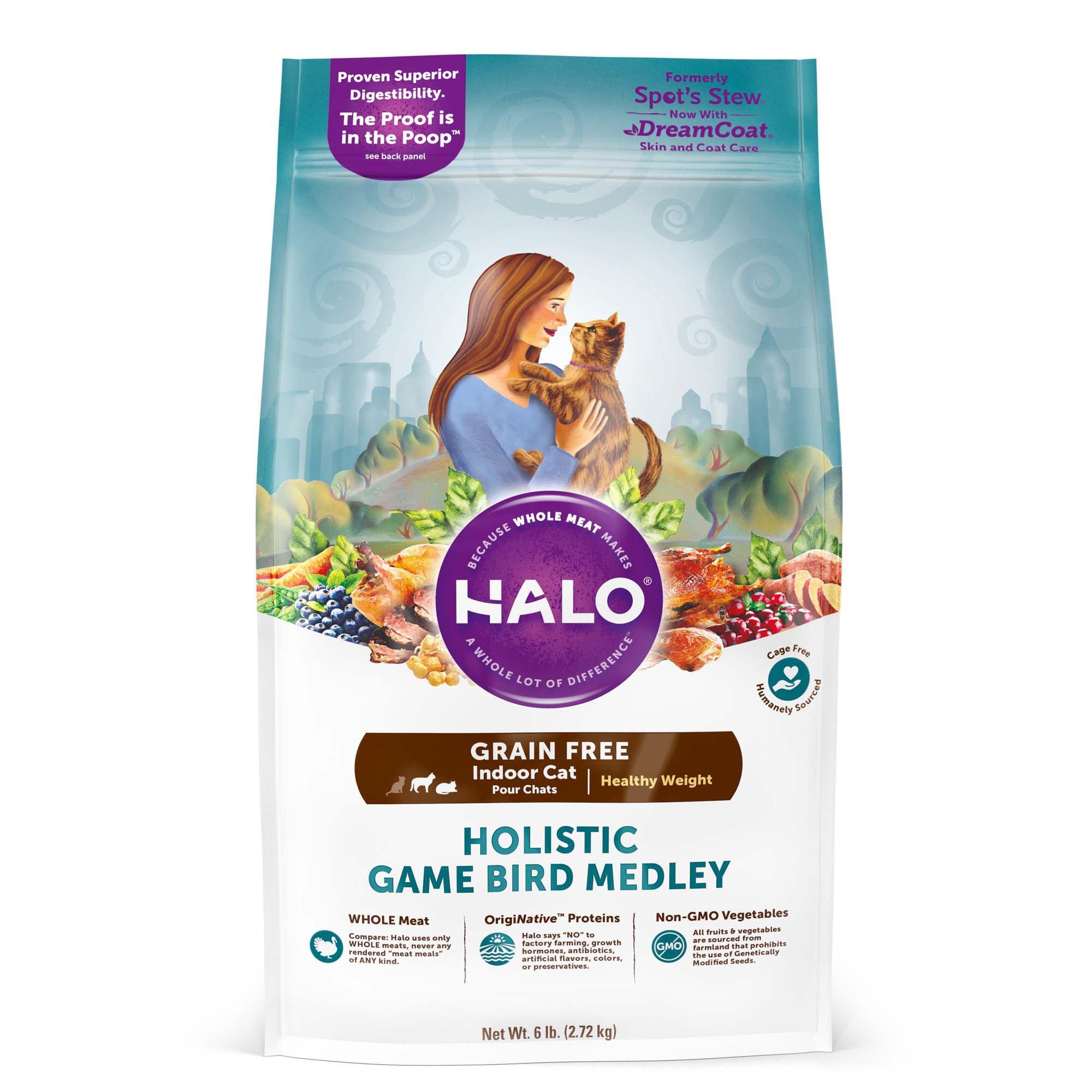 Halo Spot's Stew Healthy Weight Grain Free Game Bird Medley Cat Food