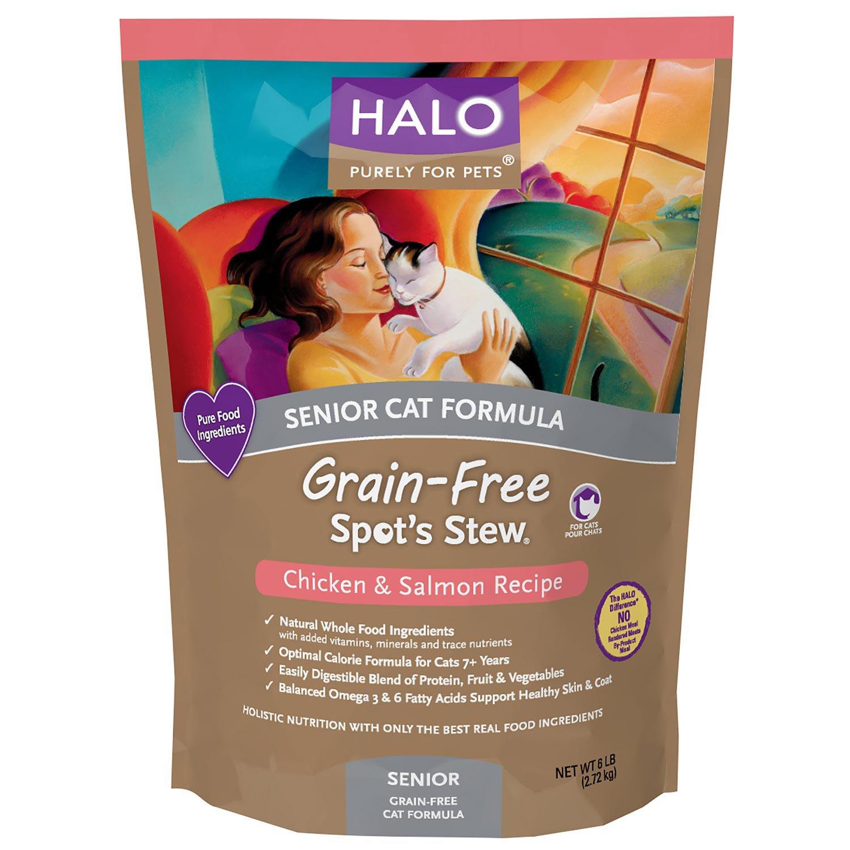 Halo Spot's Stew Grain Free Chicken & Salmon Senior Cat Food