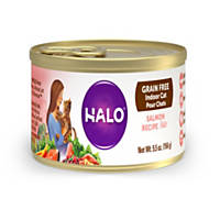 Halo Spot's Pate Ground Salmon Recipe Canned Cat Food