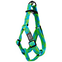 Cesar Millan Braided Brights Blue & Lime Step-In Dog Harness