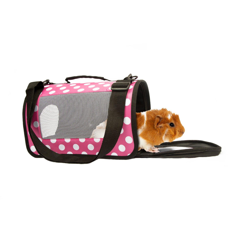 Life's Fur-tas-tic Fashion Small Animal Carrier Pink Polka Dot