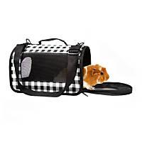 Life's Fur-tas-tic Fashion Small Animal Carrier Black Plaid