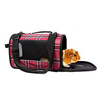 Life's Fur-tas-tic Fashion Small Animal Carrier Black Plaid