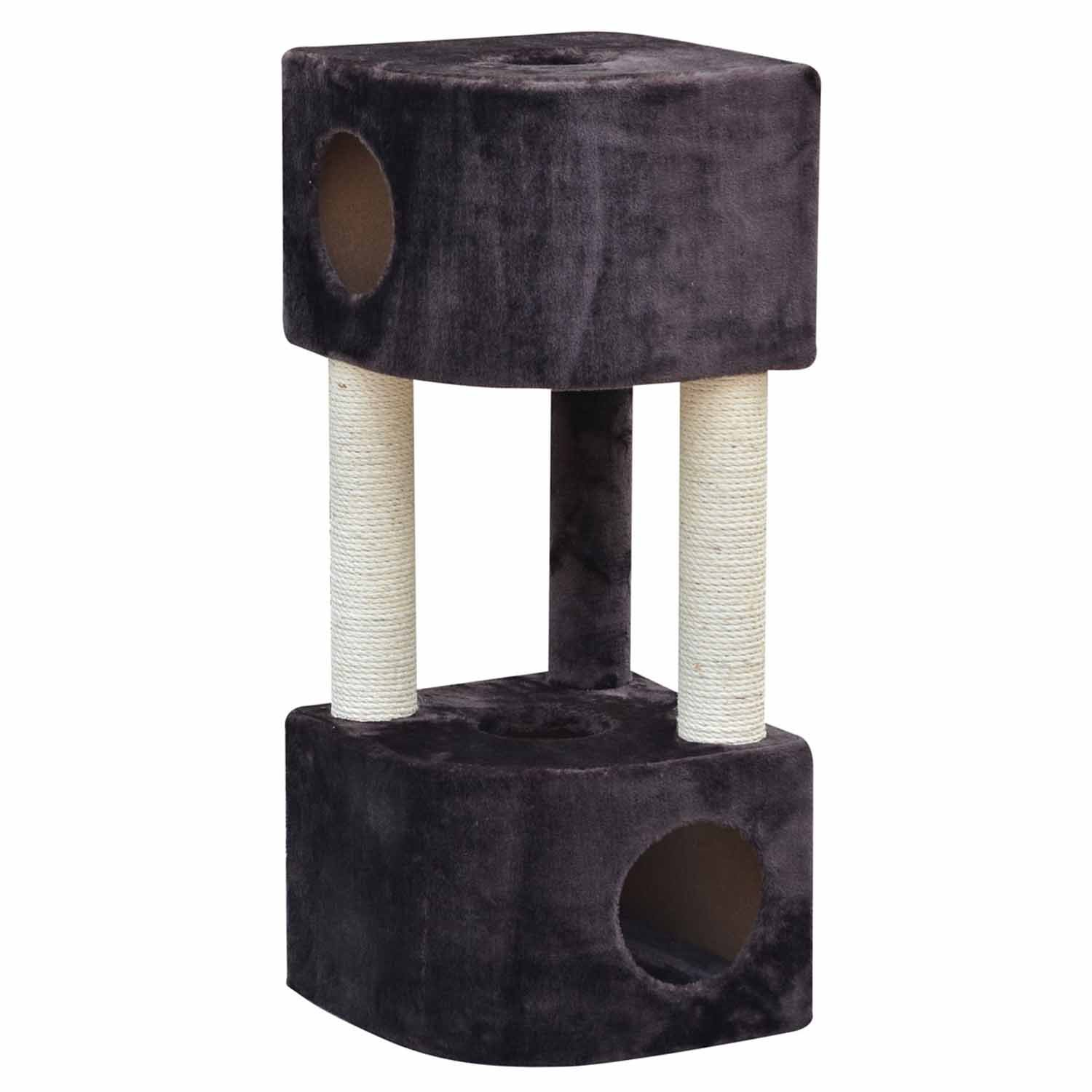 PetPals Group Brown Abstract Two Condo Cat Tree