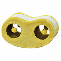 PetPals Group Yellow Scratching Cat Tunnel