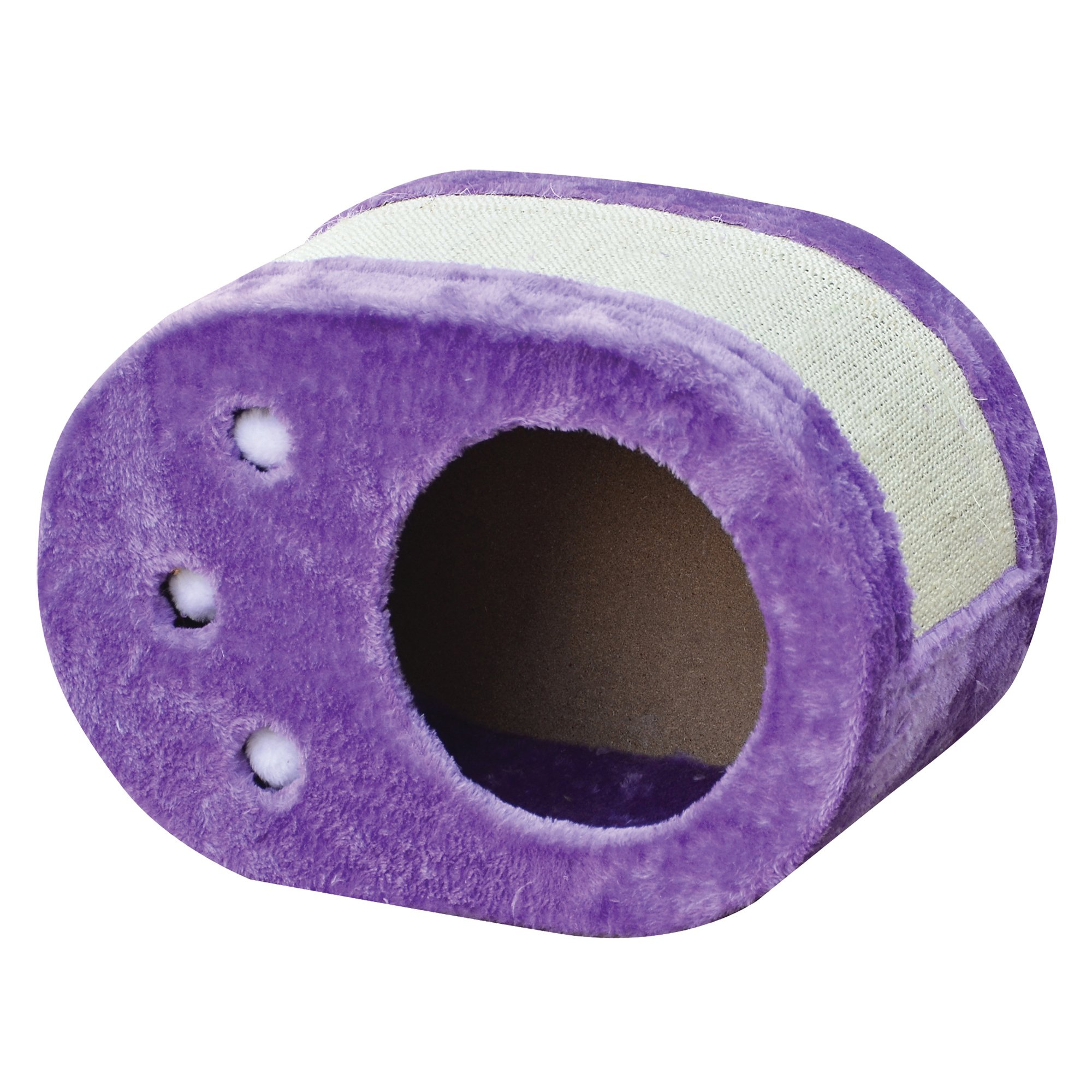 PetPals Group Purple Paw Shaped Scratching Cat Toy
