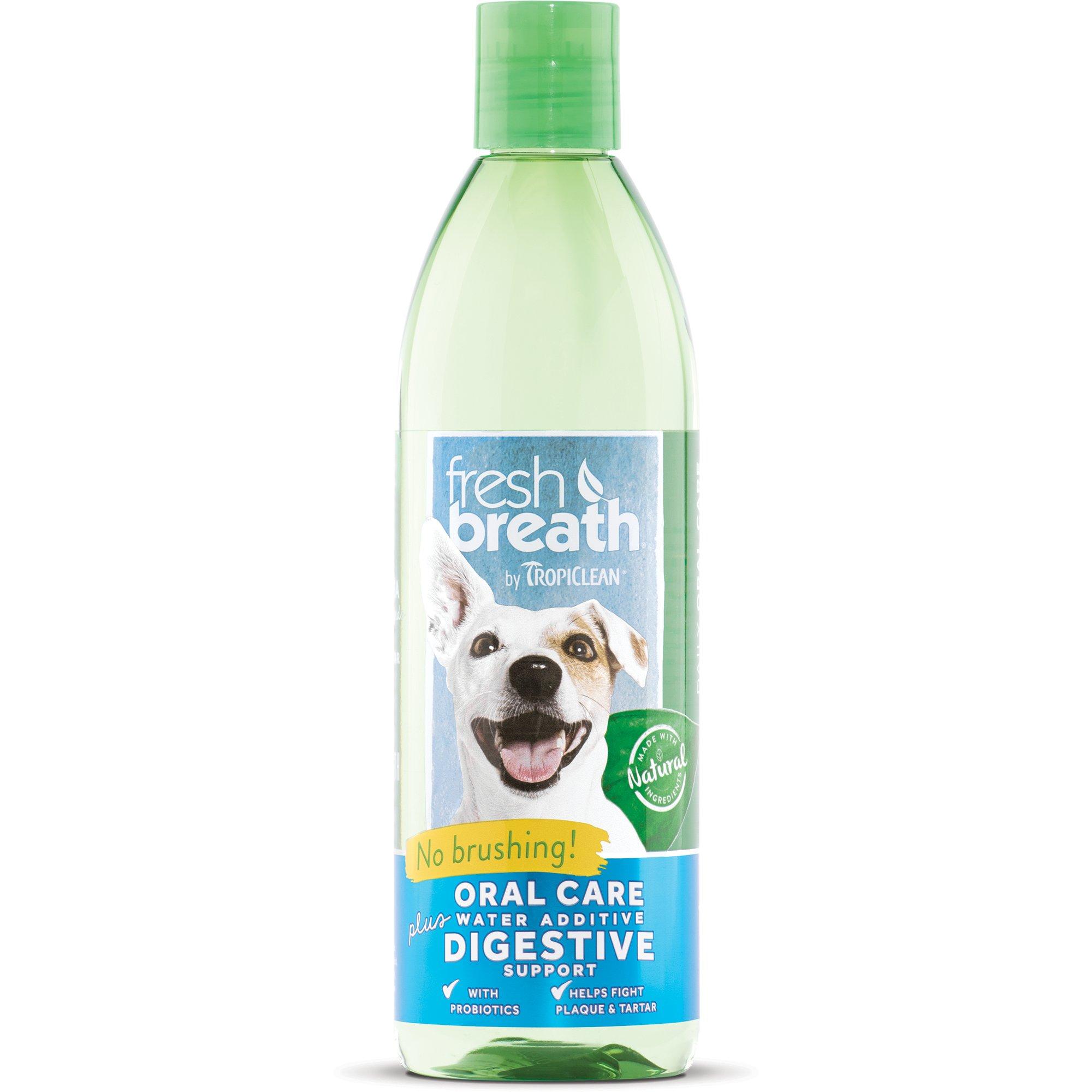 TropiClean Fresh Breath Plus Digestive Oral Care Water Additive