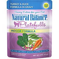 Natural Balance Platefulls Turkey & Duck Indoor Adult Cat Food