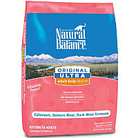 Natural Balance Original Ultra Whole Body Health Calamari Salmon & Duck Dry Kitten & Adult Cat Food