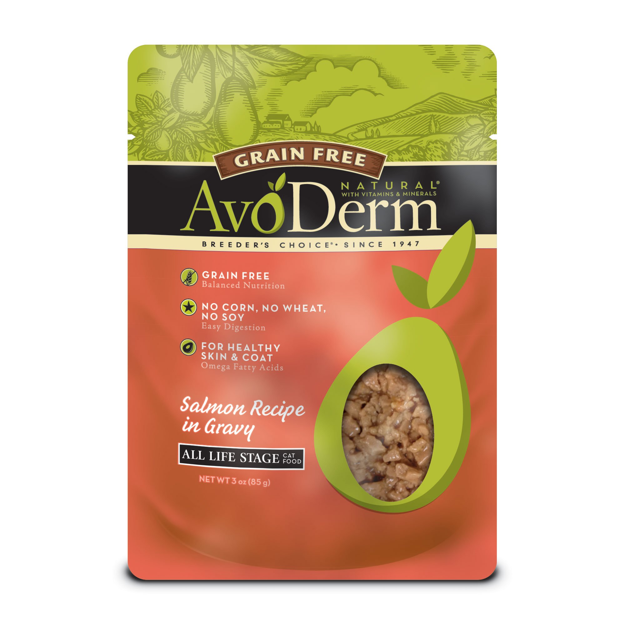 AvoDerm Natural Grain Free Salmon Cat Food Pouches