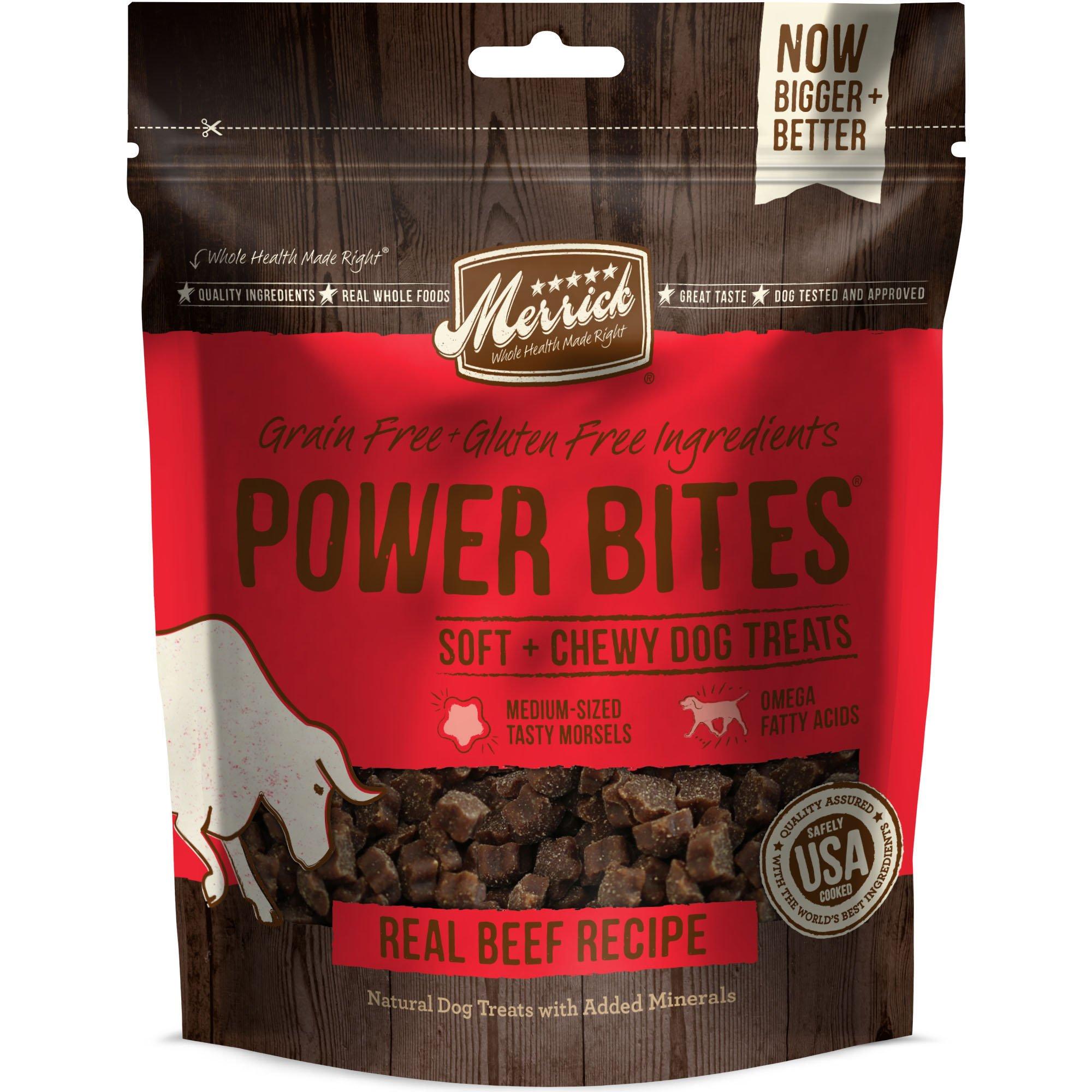 Merrick Power Bites Soft & Chewy Beef Dog Treats