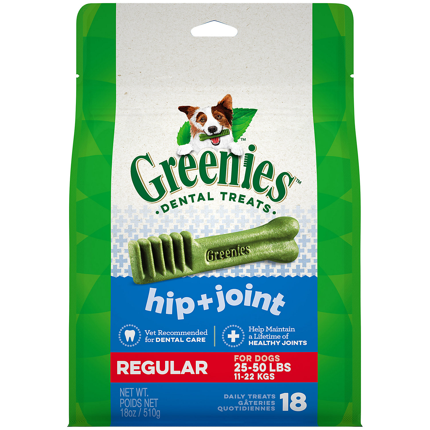 GREENIES Hip & Joint Care Canine Dental Chews Regular 18 oz.