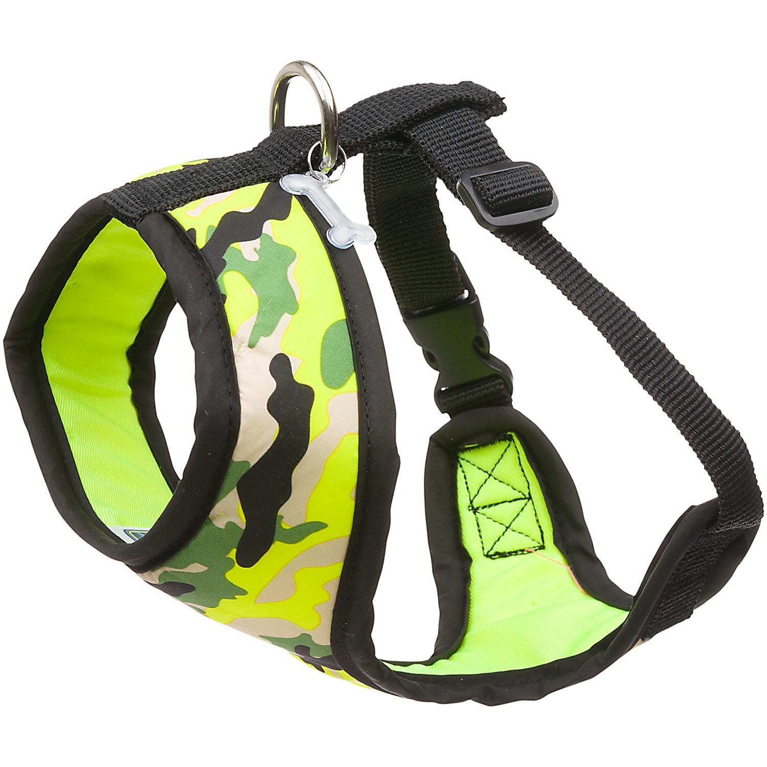 Petco Pup Crew Sport Neon Yellow Camo Dog Harness