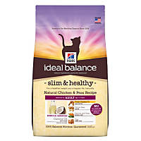 Hill's Ideal Balance Slim & Healthy Chicken & Peas Cat Food