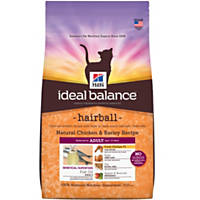 Hill's Ideal Balance Hairball Chicken & Barley Cat Food