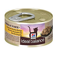 Hill's Ideal Balance Grain Free Canned Cat Food, Chicken