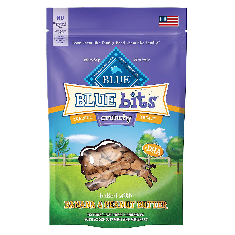 Blue Buffalo Crunchy Blue Bits Banana & Peanut Butter Dog Tr